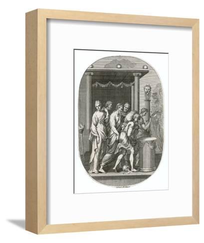 Jason and His Fellow Argonauts Reach Colchis and Steal the Golden Fleece--Framed Art Print