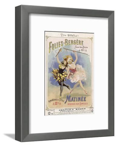 Programmes a Programme Cover for the Famous Folies Bergere Cabaret in Paris--Framed Art Print