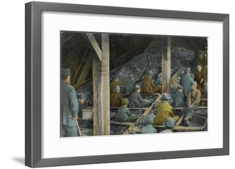 Boys Picking Slate out of Mined Coal in an American Mine--Framed Art Print