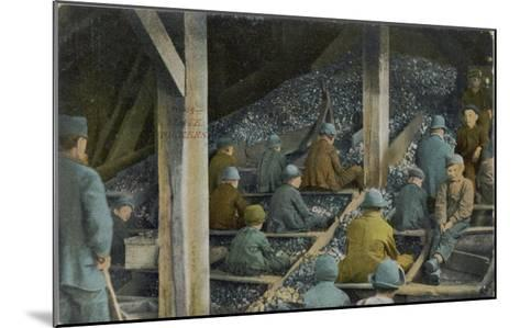 Boys Picking Slate out of Mined Coal in an American Mine--Mounted Giclee Print