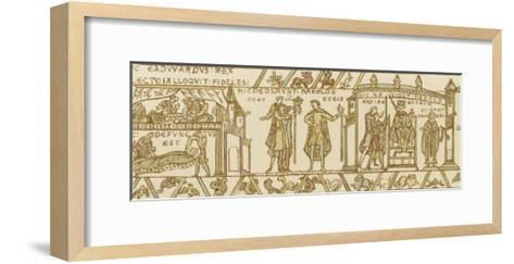 Bayeux Tapestry: Harold is Crowned King--Framed Art Print