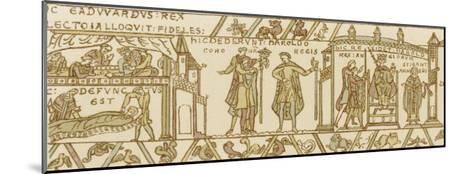 Bayeux Tapestry: Harold is Crowned King--Mounted Giclee Print