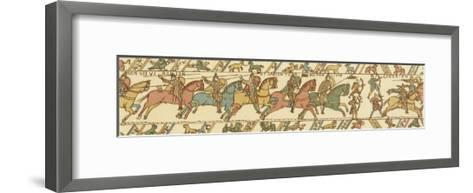 Bayeux Tapestry: Battle of Hastings Horsemen and Bowmen Advance on the English Position--Framed Art Print