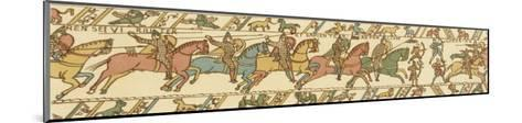 Bayeux Tapestry: Battle of Hastings Horsemen and Bowmen Advance on the English Position--Mounted Giclee Print