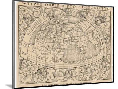 1545 Map from Basel Switzerland Depicting the World as Known to Ptolemy in the 2nd Century--Mounted Giclee Print