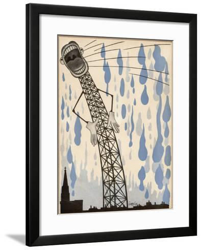 The Radio's Lies are Enough to Make the Heavens Weep!--Framed Art Print