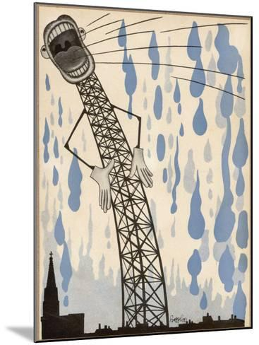 The Radio's Lies are Enough to Make the Heavens Weep!--Mounted Giclee Print