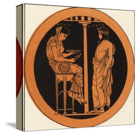 Consulting an Oracle in Ancient Greece--Stretched Canvas Print