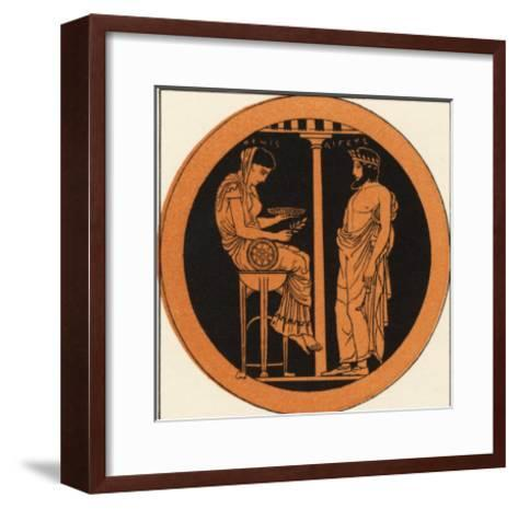 Consulting an Oracle in Ancient Greece--Framed Art Print