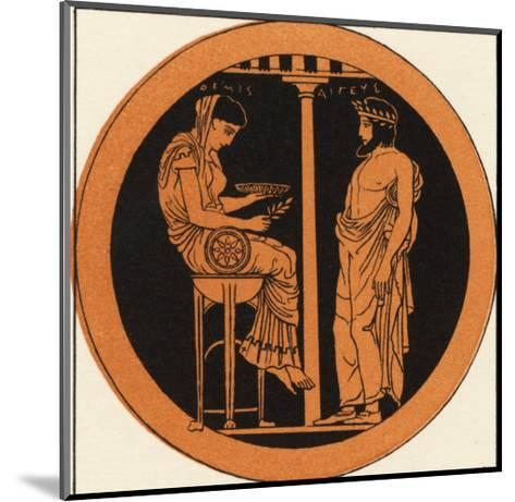 Consulting an Oracle in Ancient Greece--Mounted Giclee Print