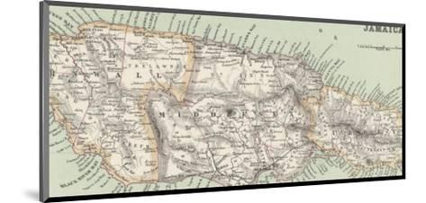 Map of Jamaica--Mounted Giclee Print