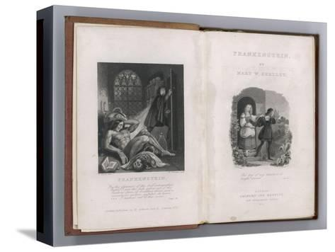Frankenstein Frontispiece and Title Page to Mary Shelley's Novel--Stretched Canvas Print