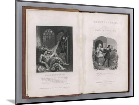 Frankenstein Frontispiece and Title Page to Mary Shelley's Novel--Mounted Giclee Print