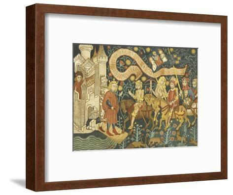 Joan of Arc She Arrives at the Chateau de Chinon--Framed Art Print