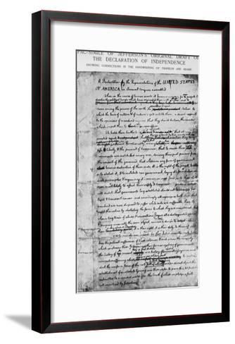Independence Draft--Framed Art Print