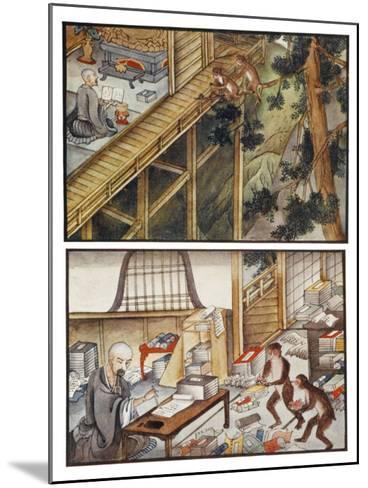 Monkeys Reincarnated-R. Gordon Smith-Mounted Giclee Print