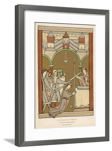 Thomas A. Becket, The Archbishop of Canterbury--Framed Art Print