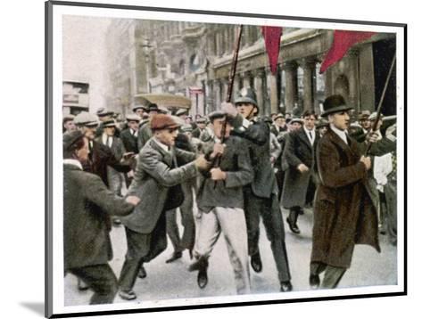 General Strike 1926--Mounted Giclee Print
