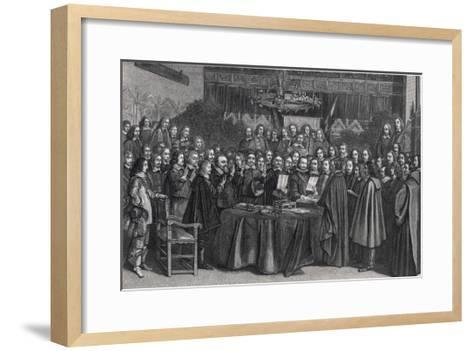 The Congress of Munster Concludes the Treaty of Westphalia- Suyderhoet-Framed Art Print