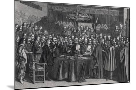 The Congress of Munster Concludes the Treaty of Westphalia- Suyderhoet-Mounted Giclee Print