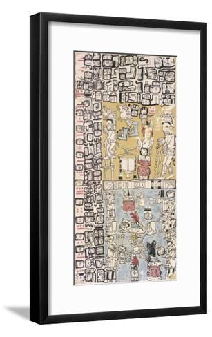 Part of a Calendar Used by Maya Priests, Depicting Gods and Symbolic Creatures--Framed Art Print