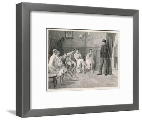 Recruits Await Their Medical Examination-Joseph Straka-Framed Art Print