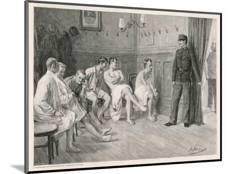 Recruits Await Their Medical Examination-Joseph Straka-Mounted Giclee Print