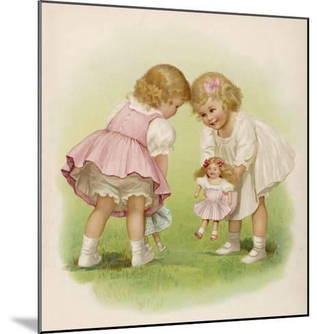 Two Very Small Girls Introduce Their Dolls to Each Other-Ida Waugh-Mounted Giclee Print