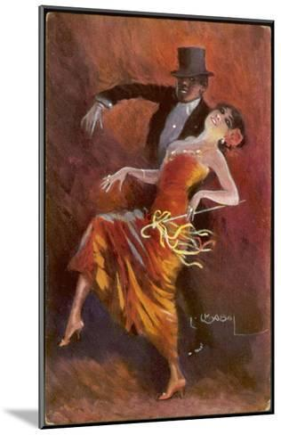 Two Handsome Dancers Strut Their Thing in Fine Style Giving the Cake-Walk Almost a Sinister Look-L. Usobol-Mounted Giclee Print