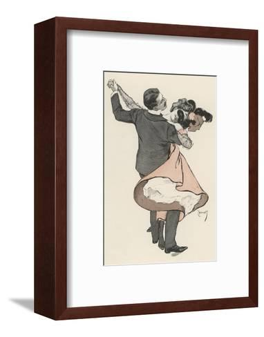 Two Dancers at the Munchen Carnival Abandon Themselves Uninhibitedly to the Delight of the Waltz-Ferdinand Von Reznicek-Framed Art Print