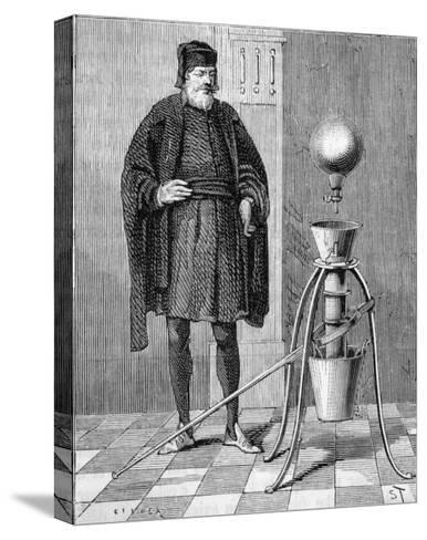 Otto Von Guericke's Pneumatic Pump--Stretched Canvas Print