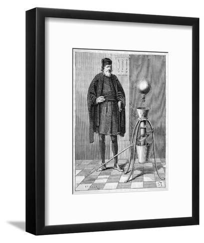 Otto Von Guericke's Pneumatic Pump--Framed Art Print
