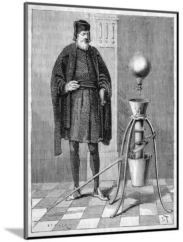 Otto Von Guericke's Pneumatic Pump--Mounted Giclee Print