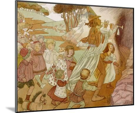 The Children of Hamelin Follow the Pied Piper and are Not Seen Again-Olive Wood-Mounted Giclee Print