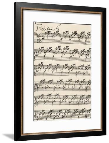 Wohltemperirte Clavir (The Well-Tempered Clavier) Prelude No 1--Framed Art Print