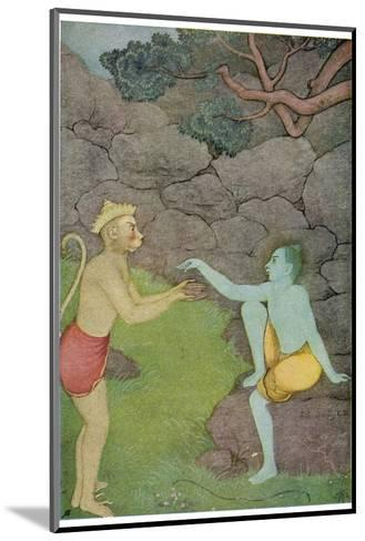 Rama Put His Trust in the Ape Hanuman (Son of the Wind God) to Find His Abducted Wife Sita-K. Venkatappa-Mounted Giclee Print