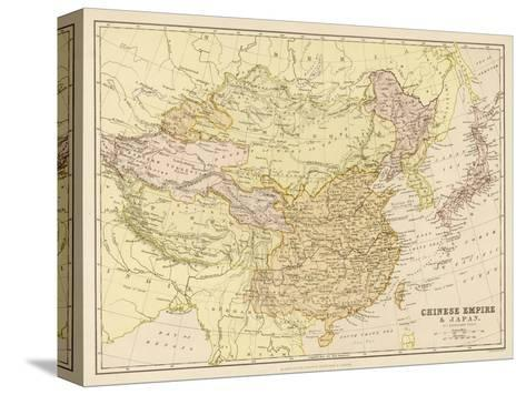 Map of the Chinese Empire and Japan--Stretched Canvas Print