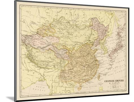 Map of the Chinese Empire and Japan--Mounted Giclee Print