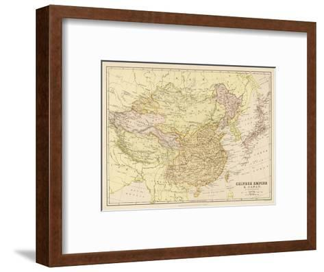 Map of the Chinese Empire and Japan--Framed Art Print