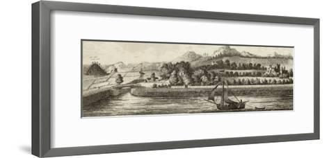 Basin of Caledonian Canal at Muirtown Near Inverness-J. Swaine-Framed Art Print