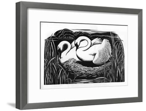 Two Swans-Clifford Webb-Framed Art Print