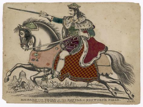 King Richard III of England Depicted at the Fatal Battle of Bosworth Field--Stretched Canvas Print