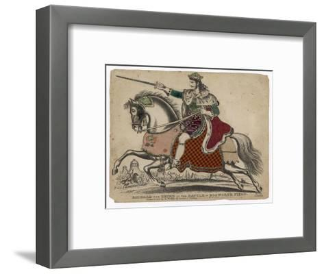King Richard III of England Depicted at the Fatal Battle of Bosworth Field--Framed Art Print