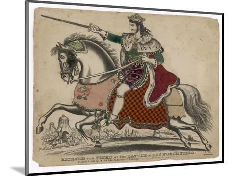 King Richard III of England Depicted at the Fatal Battle of Bosworth Field--Mounted Giclee Print