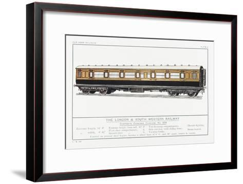 London and South Western Railway Corridor Carriage-W.j. Stokoe-Framed Art Print