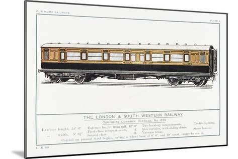 London and South Western Railway Corridor Carriage-W.j. Stokoe-Mounted Giclee Print