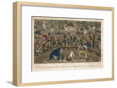 Tom and Jerry Sporting Their Blunt on the Phenomenon Monkey Jacco Macacco at the Westminster Pit--Framed Art Print