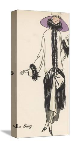 Monkey Fur Coat 1922--Stretched Canvas Print