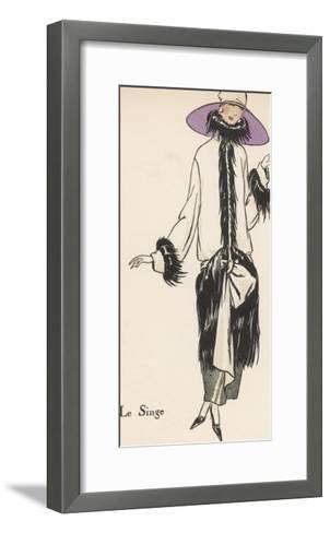 Monkey Fur Coat 1922--Framed Art Print