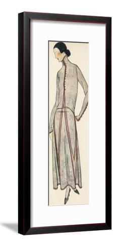 High Neck Dress 1922--Framed Art Print